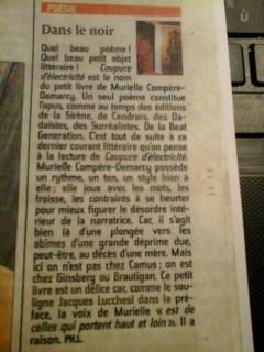 article PH.L. Coupure d'électricité